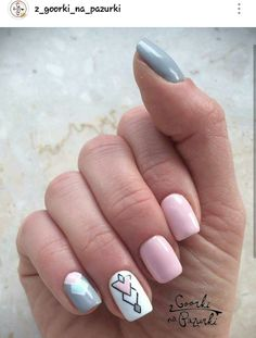 Modern Nail Art Designs that Are Too Cute to Resist Cute Nail Art Designs, Beautiful Nail Designs, Color Block Nails, Romantic Nails, Finger Nail Art, Modern Nails, Manicure Y Pedicure, Healthy Nails, Types Of Nails