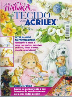 PINTURA DE TECIDO ACRILEX - Clara Minhões - Picasa Web Albums... FREE MAGAZINE!