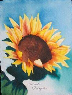 """Sunflower 2"" - Original Fine Art for Sale - © by Teresa Beyer"
