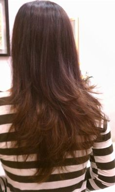 brown hair layers