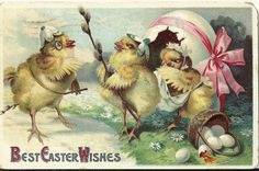 Easter Greetings  OLD FANTASY EASTER by postcardsfromthepast, $4.00