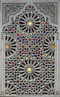beautiful Tunisian Islamic stained glass window