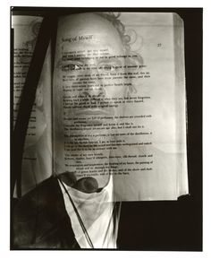 """mlorenzetti: """" Starting on the third year of The Detroit Public Library book project, now, with the interest from a publisher- Song of Myself Double exposure with Walt Whitman, 10/19/16 #8x10 gelatin silver contact print Marco Lorenzetti """""""