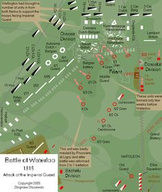Battle of Waterloo, 1815. attack of French Guard at Waterloo