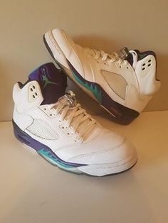 Air jordan 5 white grape