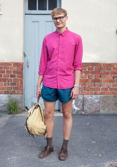 jussi: 'microshorts have been the thing this summer. I like to wear shirts with rancidly feminine low necklines.'