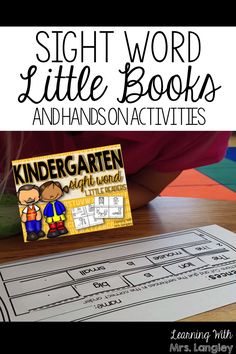 Integrate Sight Word Little Readers into your small group instruction. Introduce the focus sight words, kiddos make the little book (super simple!), and then complete the sentence activity. Can be done in a day or throughout the week!