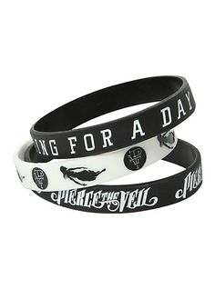 Pierce The Veil King For A Day Rubber Bracelet 3 Pack | Hot Topic