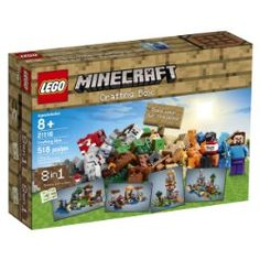 Expand your imagination with the LEGO® Minecraft™ Crafting Box! Set your imagination free with the LEGO® Minecraft™ Crafting Box! Create your own Minecraft mo Lego Minecraft, Minecraft Crafts, Lego Craft, Craft Box, Minecraft Party, Box Building, Building Toys, Best Christmas Gifts, Christmas Fun