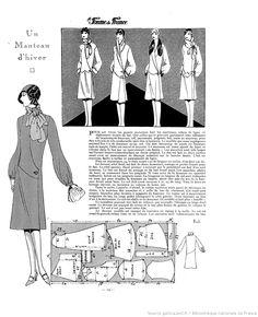 Manteau d'hiver (La Femme de France 28/10/1928)