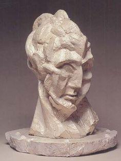 Pablo Picasso. Head of a Woman (Fernande), 1909 Tête de femme (Fernande) 1909  Plaster  London, Tate Gallery