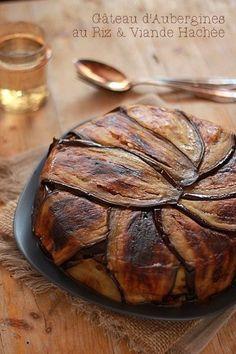 Gâteau d'Aubergines au Riz & Viande Hachée – Maryse & Cocotte