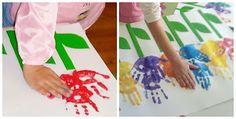 Great for school art project. Next time in the porch get all the children to do hand prints on long paper and write their names. Do this three times during the year to show progression. Put up photographs of pencil grips each time as well.