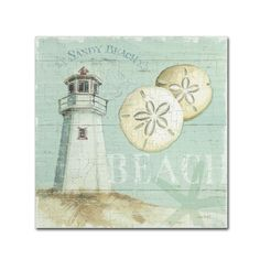 Beach House I by Lisa Audit Painting Print on Wrapped Canvas