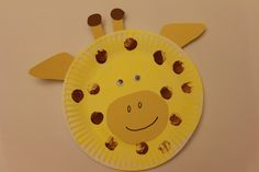 Letter of the Week - G making a giraffe craft for kids out of a paper plate! Cute DIY project