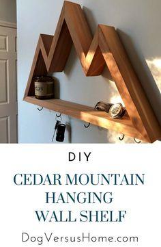 Diy cedar mountain hanging wall shelf in 2019
