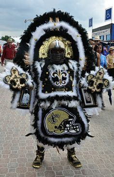 Who Dat Mardi Gras Indian by David Mora Photography