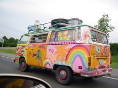 """VW Camper van bus - Exotic Hippie VW. BBC Boracay says: """" Maybe following the Banana Pancake Trail in Asia..."""""""