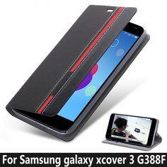 Fashion TOP Quality Stand Flip Leather case for Samsung Galaxy Xcover 3 G388F Case Mobile Phone Cover Mix Color