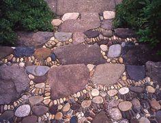 Stone Steps Mosaic Garden Design
