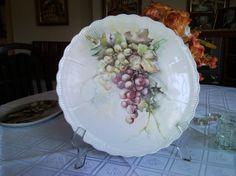 Pintura Sobre Porcelana Platon De Pizza Con Uvas Manosalaobratv