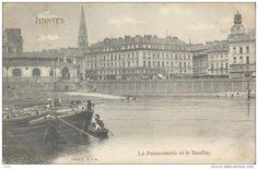Nantes, chalands nantais, la Poissonnerie et le Bouffay