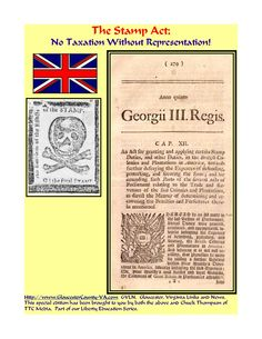 the-stamp-act-no-taxation-without-representation by Chuck Thompson via Slideshare