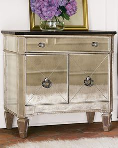 Using this as inspiration for the nightstands. Love the idea of using dark stained wood for the top to match a bigger dresser.