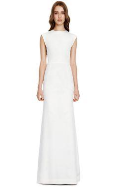 Sleeveless Evening Dress With Printed Side Insets by Michael Angel - Moda Operandi