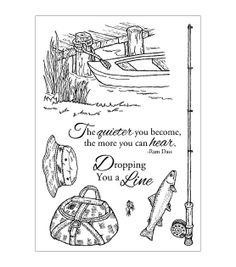 Inky Antics Clear Stamp Set-Fishing Favorites, , hi-res Joann.com
