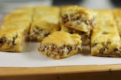 The Kitchen is My Playground: 3-Ingredient Crescent Sausage Bites  Yum!  Mexican Cheesecake for breakfast!