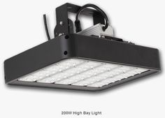 LED High Bay Light 200W Mechanical IP Rating IP65 (IP67 optional) Specifications Guarantee 5 Years Warranty Heat Radiator Anodized Aluminum Face PC Fixture Dimensions 303.6*473*196mm Fixture Weight 8.5kg