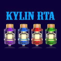Multi-color Kylin are coming soon! Vapers are you ready?:) What's upgraded? 1. Ultem drip tip 2. Top fill ring added 3. Gold plated chimney
