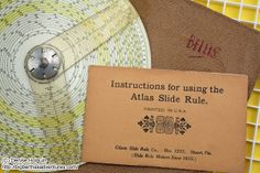 A tribute to the slide rule! http://bigberthasadventures.com/2013/10/15/random-object-wednesday-a-tribute-to-the-slide-rule/