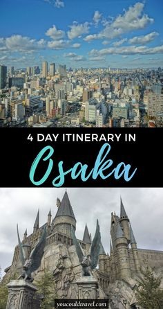 A 4 Day Osaka Itinerary - Planning the perfect Osaka itinerary? Here is how you can spend 4 full days enjoying one of Japan's most beautiful cities. (plus what meals to eat and where). #japan #osaka #itinerary
