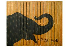 hand-painted elephant sign. 30 x 24. Not my favorite design, but I like the idea of this.