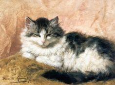Henriette Ronner-Knip (Dutch, 1821 - 1909): A cat (1893)