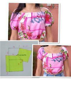 #modelagem, #MODA #patrones, #costura, #moldesprontos, #fashions Dress Sewing Patterns, Blouse Patterns, Sewing Patterns Free, Clothing Patterns, Blouse Designs, Princess Cut Blouse, Sewing Blouses, Poster S, Dresses Kids Girl