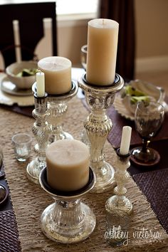 Glass Candlesticks Made In France | Friday Fabulousity – DIY Mercury Glass | Ashley Victoria Photography
