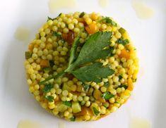 Ptitim israeli couscous plated