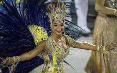 Juliana Alves no desfile da escola de samba Unidos da Tijuca, no segundo dia do