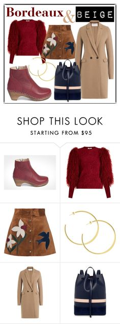"""Bordeaux & Beige"" by maguba ❤ liked on Polyvore featuring Maguba, Sonia Rykiel, RED Valentino, Harris Wharf London, Mother of Pearl and modern"