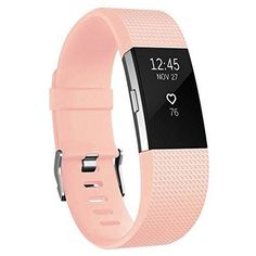 Fitbit Charge 2 Bands AK Classic Edition Adjustable Comfortable Replacement Wristbands for Fitbit Charge 2 Heart Rate [No Tracker] (Blush Pink Large)