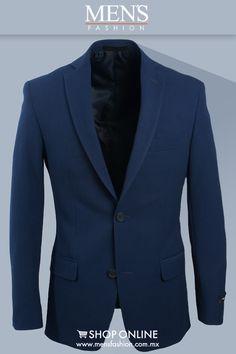 Los #Sacos azules son perfectos para toda ocasión. Combina el azul con otros tonos del mismo color para estar en tendencia, aprovecha su versatilidad. ¡Viste Elegante! www.mensfashion.com.mx #MenInMotion #FashionMen #MenStyle