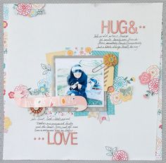 S-photo time: American Crafts: My girl layout & card