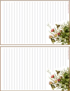 Bees and Wild Flowers Printable Stationery Printable Lined Paper, Free Printable Stationery, Free Printables, Diy Paper, Paper Crafts, Stationery Paper, Note Paper, Wild Flowers, Japanese Language