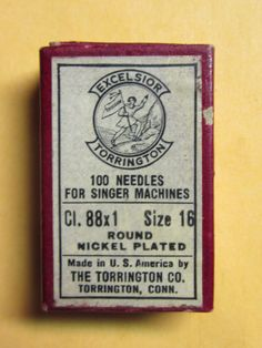 Excelsior 88x1 Sewing Machine Needles Sz 16 Qty 92 | eBay