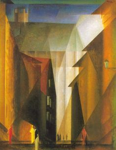 Barfüßerkirche I, a painting from 1924 by artist Lyonel Feininger.