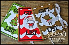 Artisan Wednesday Wow- Color Me Christmas Notepads