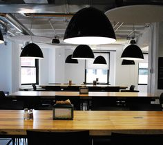 LEMAYMICHAUD | GOOGLE | Montreal | Architecture | Interior Design | Corporate | Office | Work Space | Montreal Architecture, Architecture Design, Interiores Design, Google, Conference Room, Ceiling Lights, Space, Lighting, Table